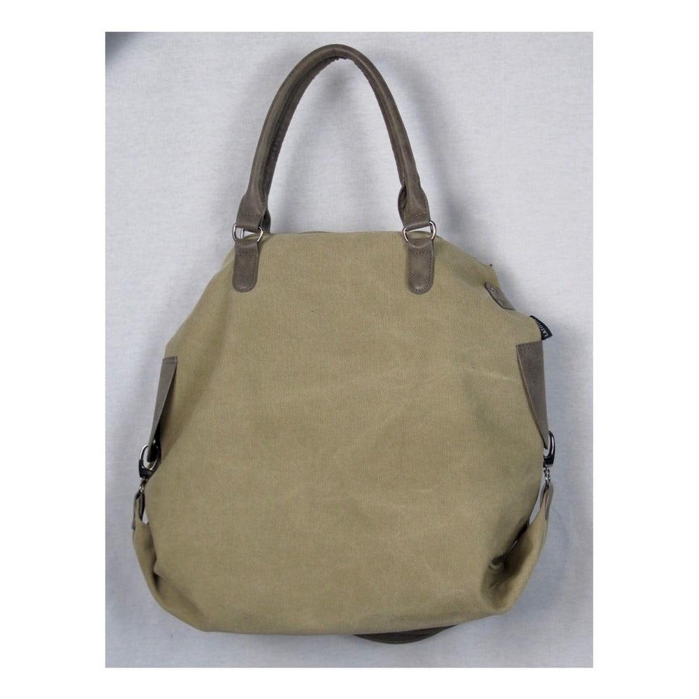 Khaki zelená plátěná taška Sorela Bushira