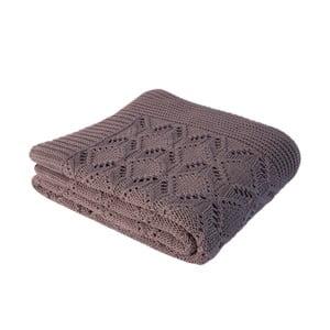 Hnědá bavlněná deka Cotton