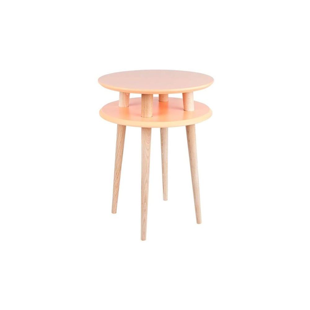 Oranžový konferenční stolek Ragaba UFO, ⌀ 45 cm