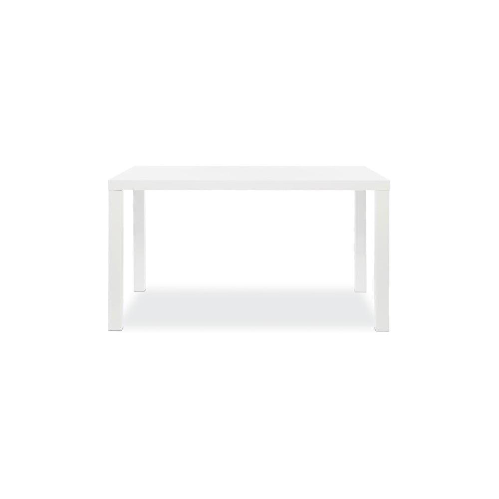 Lesklý bílý jídelní stůl Intertrade Primo, 80 x 140 cm