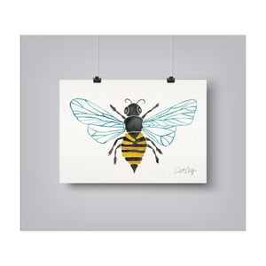 Plakát Americanflat Honey Bee, 30 x 42 cm