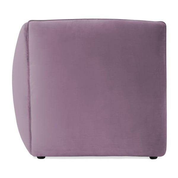 Lila fialová dvoumístná modulová pohovka Vivonita Velvet Cube