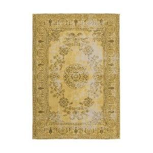 Hořčicově žlutý ručně tkaný koberc Kayoom, 80 x 150 cm