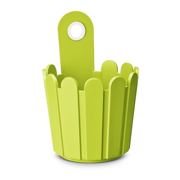 Květináč Mini Planter Green, 15,5x22/14 cm