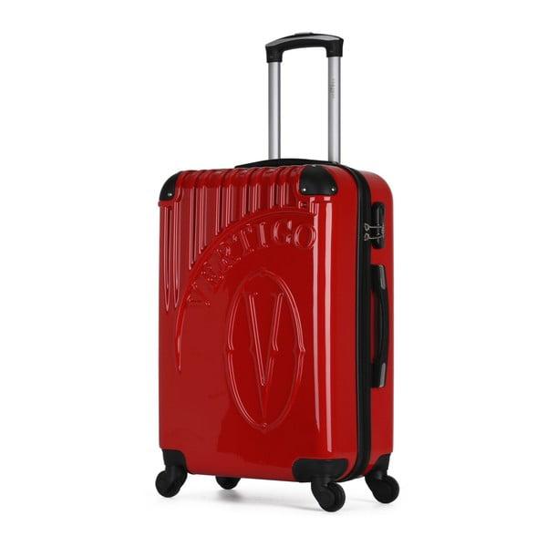 Červený cestovní kufr na kolečkách VERTIGO Valise Grand Format Duro, 60l