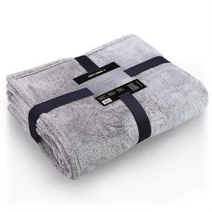 Šedá deka z mikrovlákna DecoKing Soft, 150 x 200 cm