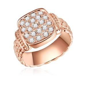 Prsten v barvě růžového zlata s krystaly Swarovski Lilly & Chloe Melanie, vel 60