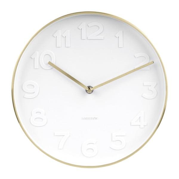 Nástěnné hodiny s detaily ve zlaté barvě Karlsson Mr. White, ⌀28cm