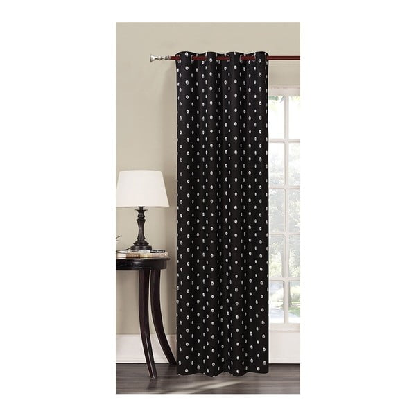 Draperie din microfibră DecoKing Darknight, 140 x 245 cm, negru
