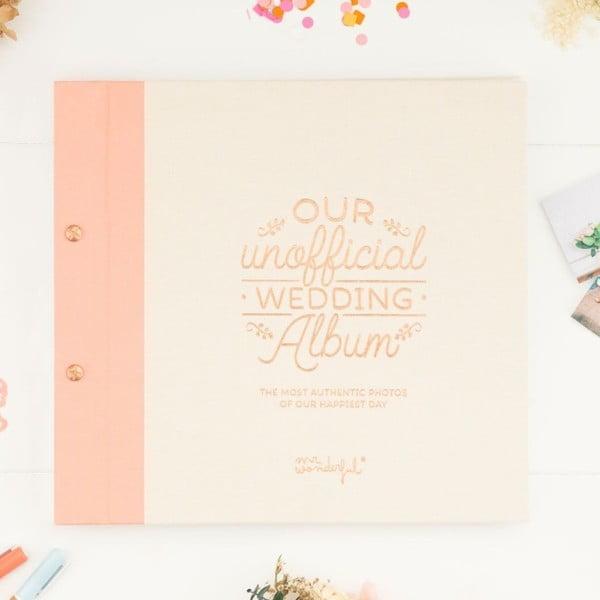 Svadobný fotoalbum Mr. Wonderful Our unofficial wedding album