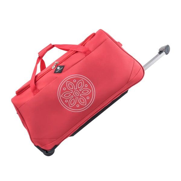 Červená cestovná taška na kolieskach GERARD PASQUIER Miretto, 91 l