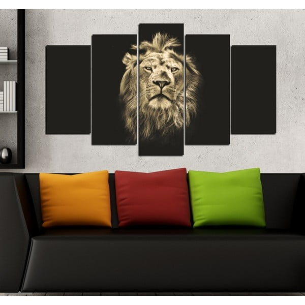 5dílný obraz Král zvířat