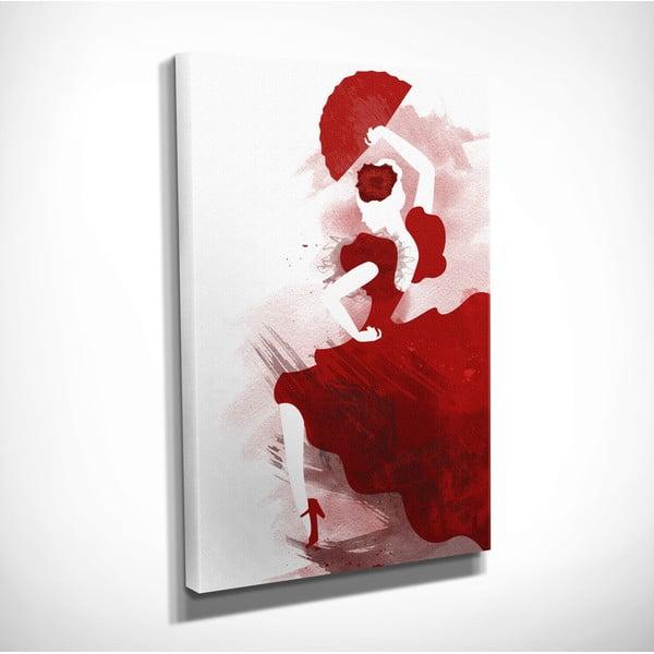 Flamenco vászon fali kép, 30 x 40 cm