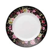 Dezertní talíř z kostního porcelánu Ashdene Ebony Rose, ⌀19cm