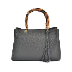 Černá kožená kabelka Carla Ferreri Celestina