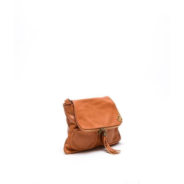 Kožená kabelka Carla Ferreri 2113 Cognac