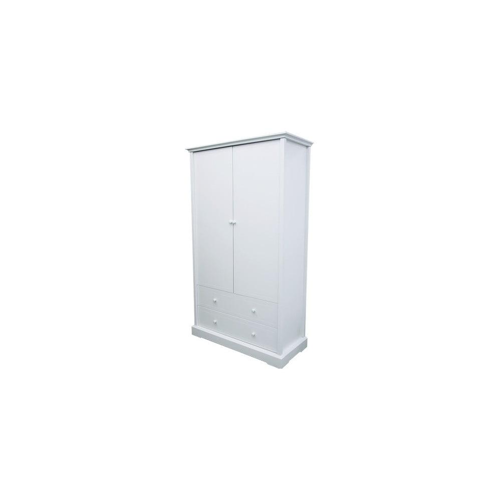 Bílá šatní skříň Núvol Sofia