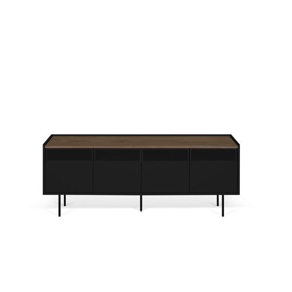Čierny televízny stolík TemaHome Radio, 160 × 60 cm