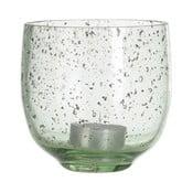 Sfeșnic din sticlă A Simple Mess, ⌀ 10 cm, verde