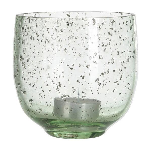Zöld üveg gyertyatartó, ⌀10cm - ASimple Mess