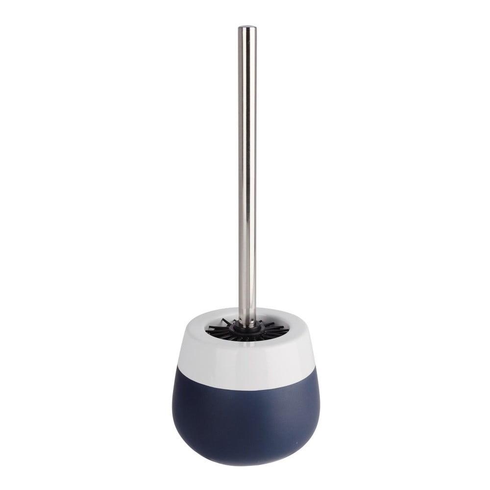 Modro-bílý keramický toaletní kartáč Wenko Matta