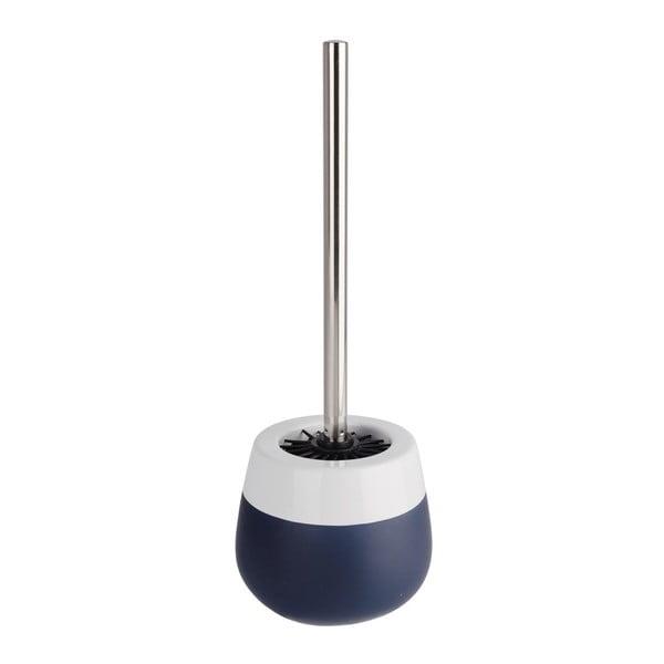 Modro-biela keramická toaletná kefa Wenko Matta