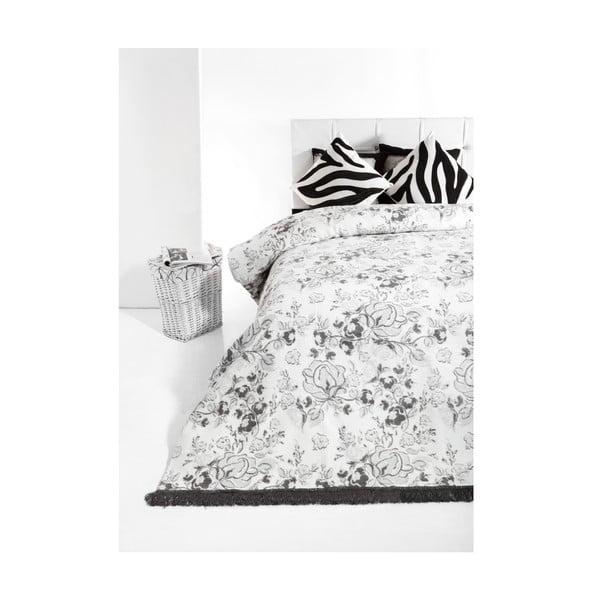Přehoz Layla 160x220 cm, šedé růže