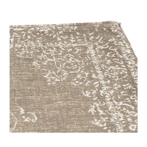 Světle hnědý bavlněný koberec LABEL51 Vintage, 160x140cm