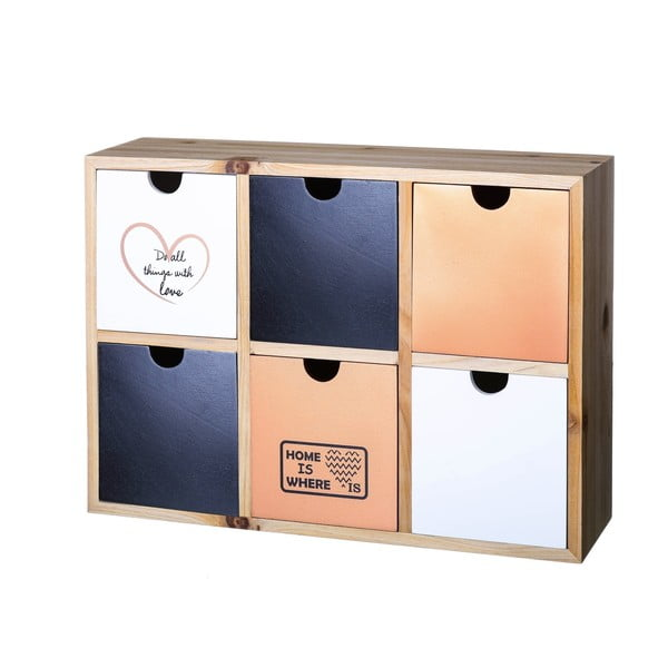 Šuplíčky Copper Black, 33x25 cm