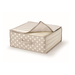 Béžový uložný box na přikrývky Cosatto Trend,45x45cm