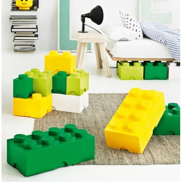 Světle žlutý úložný box čtverec LEGO®