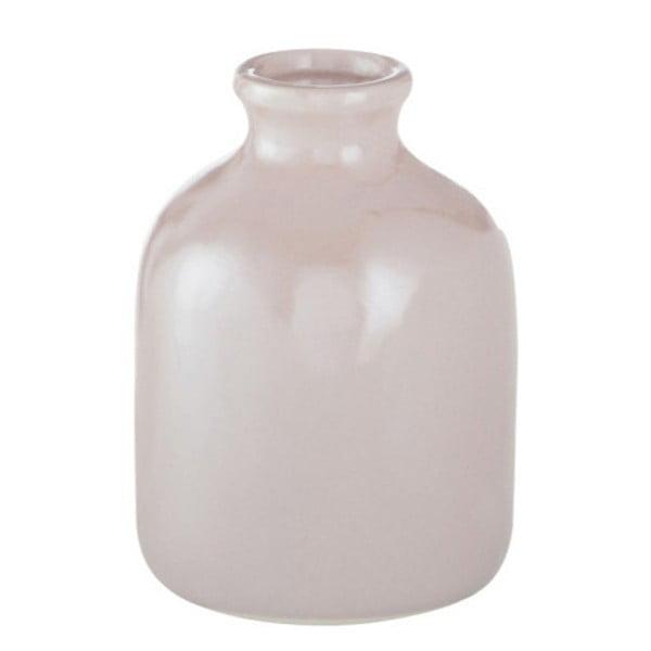 Růžová kameninová váza J-Line, 10x10x13 cm