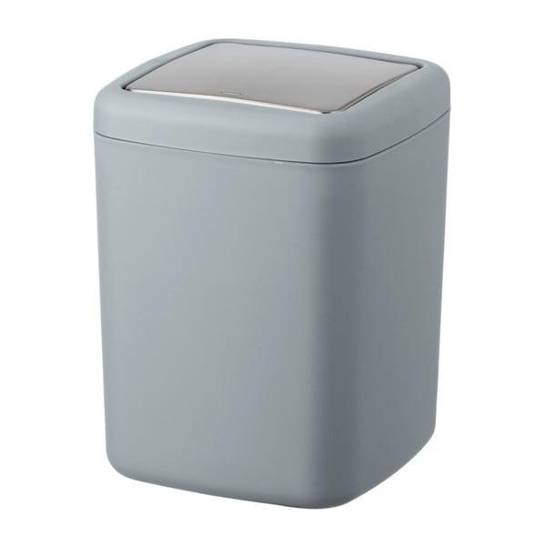 Sivý odpadkový kôš Wenko Barcelona S, výška 20 cm