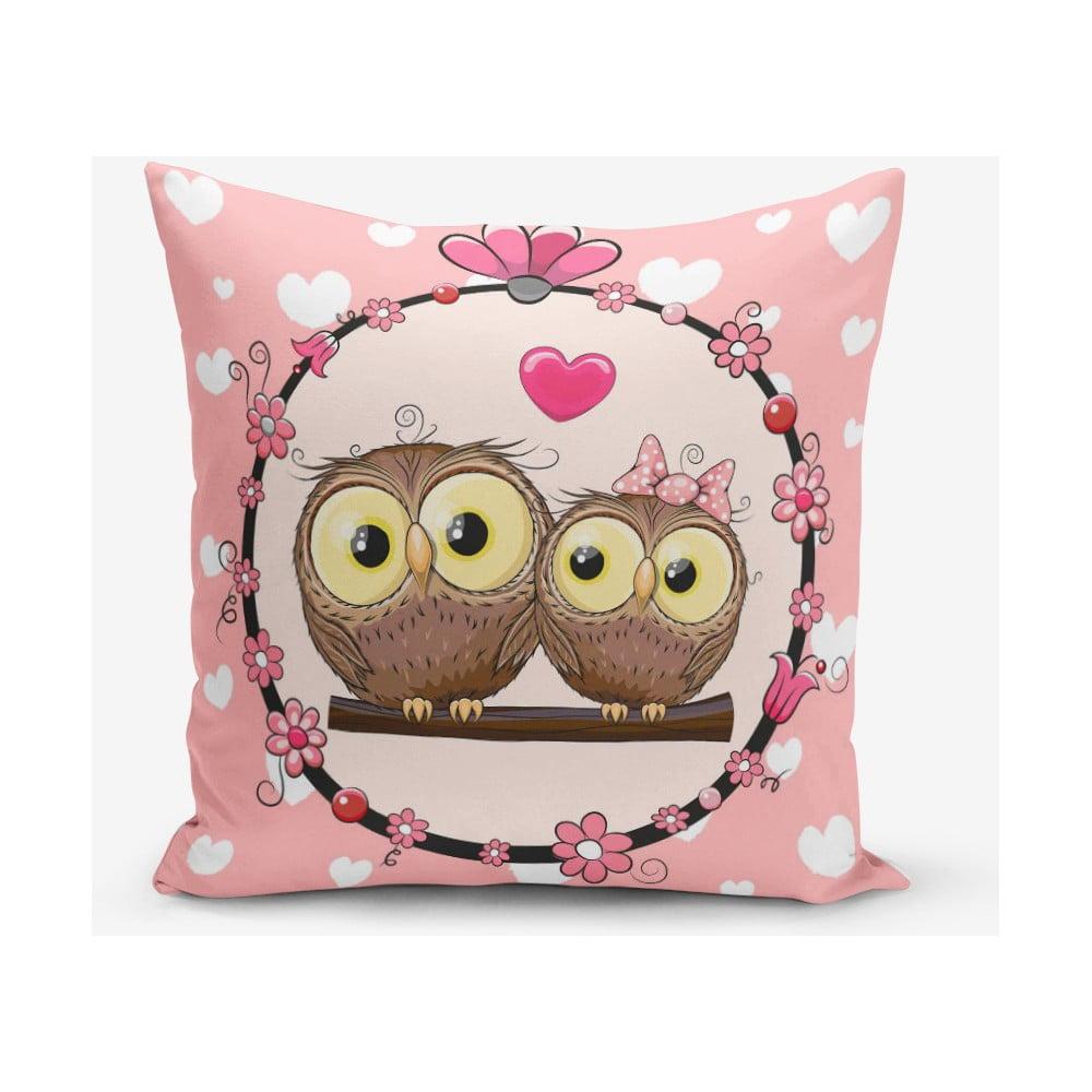 Povlak na polštář s příměsí bavlny Minimalist Cushion Covers Fall in Love, 45 x 45 cm