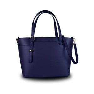 Modrá kabelka z pravé kůže JOHN FISH Simple