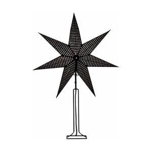 Černá svítící hvězda se stojanem Best Season Huss, 85 cm