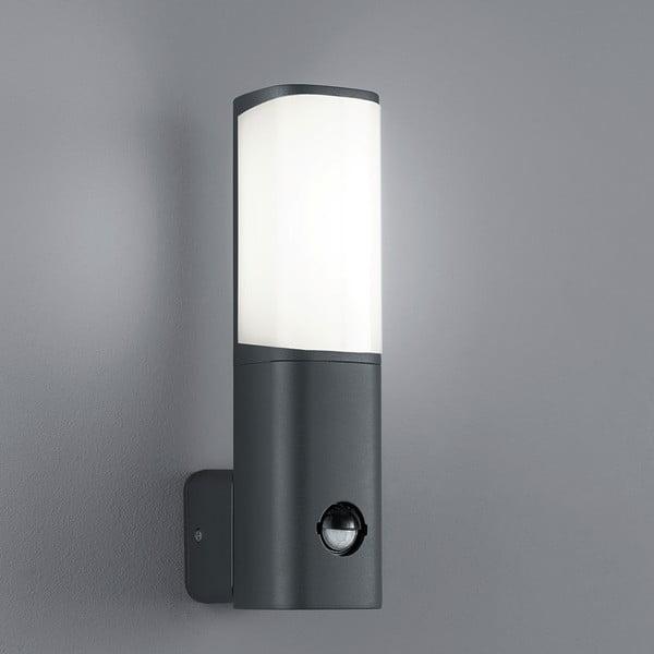 Venkovní nástěnné světlo s pohybovým čidlem Ticino Antracit, 27 cm