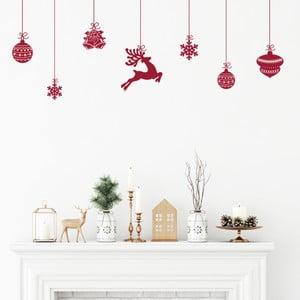 Sada 8 vánočních samolepek Ambiance Scandinavian Christmas
