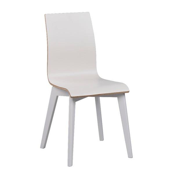 Bílá jídelní židle s bílými nohami Rowico Grace