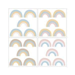 Sada 20 nástěnných samolepek Dekornik Rainbow Pastel