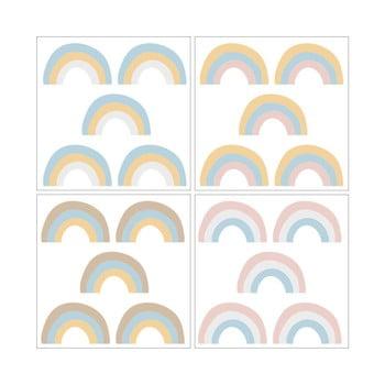 Set 20 de autocolante Dekornik Rainbow Pastel