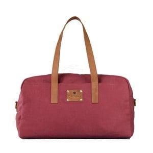 Vínová kožená taška O My Bag The Weekender
