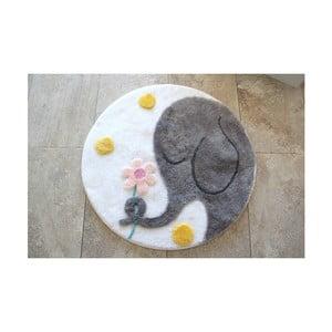 Covoraș de baie Confetti Bathmats Elephant, Ø 90 cm