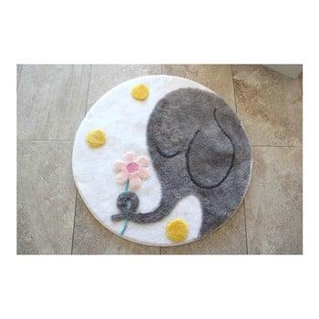 Covoraș de baie Confetti Bathmats Elephant, Ø 90 cm de la Chilai Home by Alessia