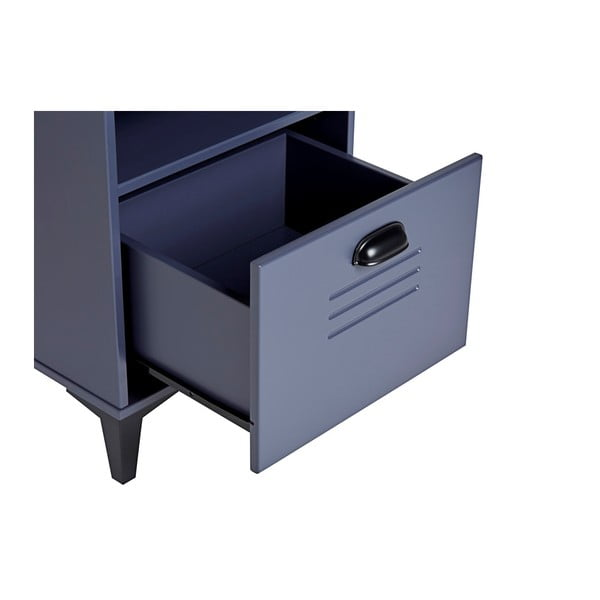 Modrý noční stolek Marckeric Zack