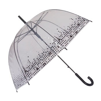 Umbrelă Ambiance Birdcage Paris, ⌀ 79 cm, transparent imagine