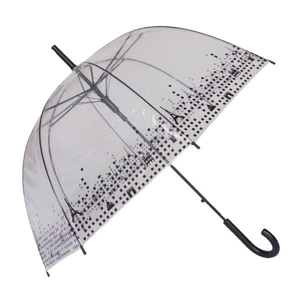 Transparentný dáždnik Birdcage Paris, ⌀79 cm