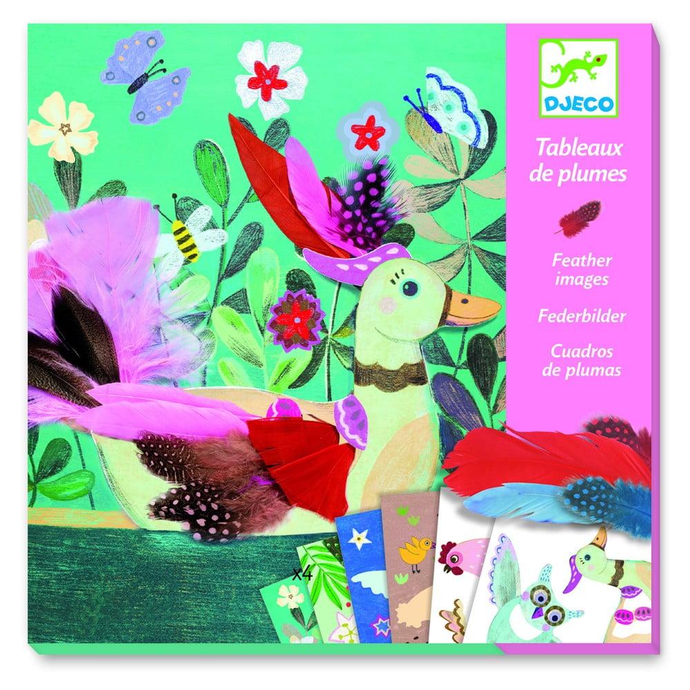 Kreativní set Djeco Colorful Feathers