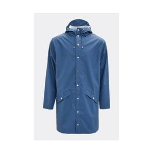 Modrá unisex bunda s vysokou voděodolností Rains Long Jacket, velikost L/XL