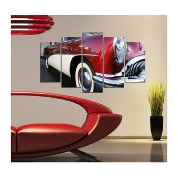 Tablou din mai multe piese 3D Art Retro Vintage Car, 102 x 60 cm de la 3D Art